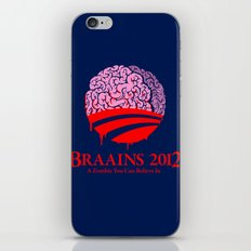 Vote Braains 2012 - A Zombie You Can Believe In iPhone Skin