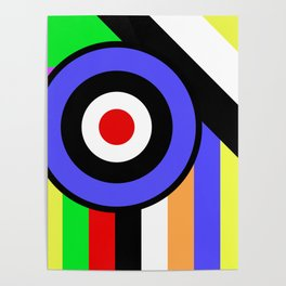Bold Geometry - Abstract, Geometric, Retro Art Poster