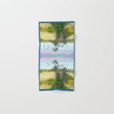 Plaid Beachscape with Seagrass Hand & Bath Towel