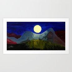 Gaia and Luna Art Print