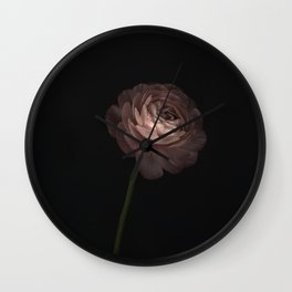 Buttercup in dark background with artistic effect Wall Clock