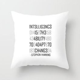 Adapt or Die Encoded Throw Pillow