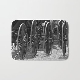 Amish buggy wheels Bath Mat