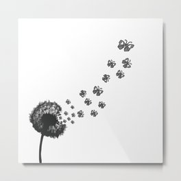 Dandelion Butterflies Metal Print