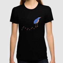 Bird leaving a trail T-shirt