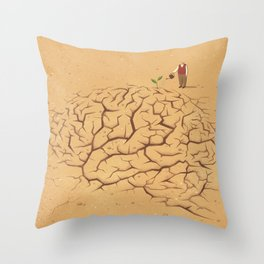 Dry Brain Throw Pillow