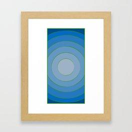 Blue hypnotism Framed Art Print
