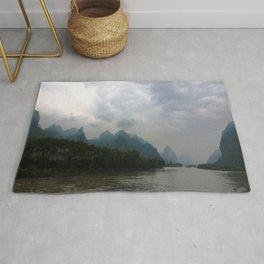 Li River in the Rain Rug