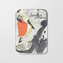 Jane Avril French can-can Jardin de Paris Bath Mat