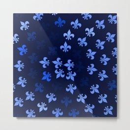 Blue Fleur-Di-Lis Metal Print