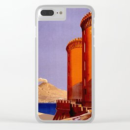 Napoli - Naples Italy Vintage Travel Clear iPhone Case