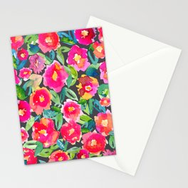 Hot floral mess - Dark Stationery Cards