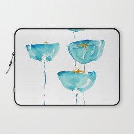 blue poppy watercolor Laptop Sleeve