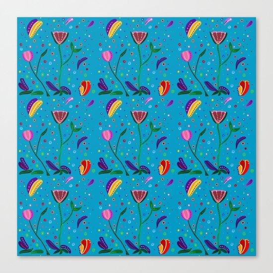 Flowers at Dusk, original art, repeated Canvas Print