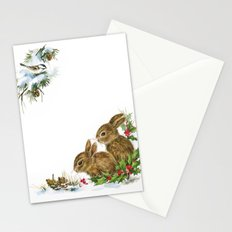 Winter in the forest- Animal Illustration Stationery Cards