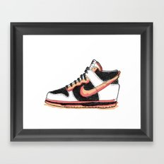 Dunk Hight sneakers Framed Art Print