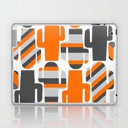Modern striped cacti Laptop & iPad Skin