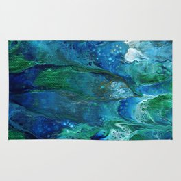Underwater Flow Acrylic Abstract Painting Rug
