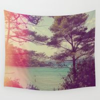 french Wall Tapestries featuring French Beach by Emma.B