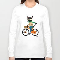 cycling Long Sleeve T-shirts featuring Whim's cycling by BATKEI