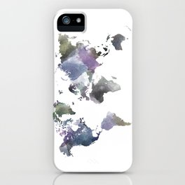 Watercolor World iPhone Case