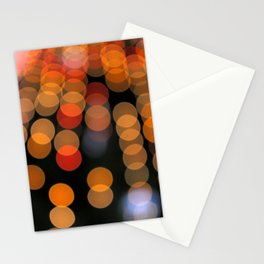 Blurred Orange Lights Stationery Cards