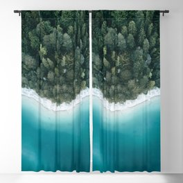 Green and Blue Symmetry - Landscape Photography Blackout Curtain