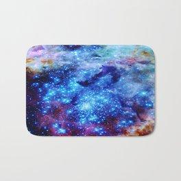 galaxy blue sparkle Bath Mat