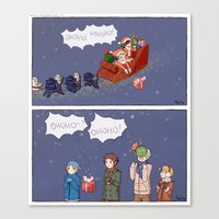 haikyuu Canvas Prints featuring Haikyuu!! Christmas by Natalie Art