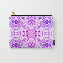 Floral Print - Magenta & Purple Carry-All Pouch