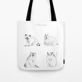Fur For Four Tote Bag