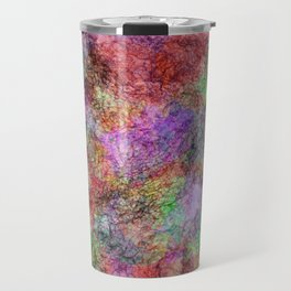 Colorful Abstract Water Color Misty Swirls Design Travel Mug