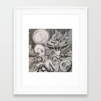 alien Framed Art Prints featuring Alien by Ju.jo.weh