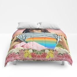 Internal Rainbow II Comforters