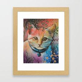Milo ... Abstract Cat Kitten Art Framed Art Print