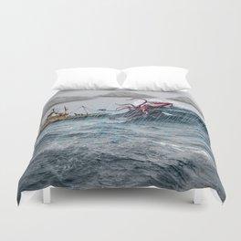 Kraken Attack Duvet Cover