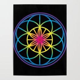Sacred Symbols Rainbow Chakra Poster