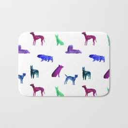 Dog Pattern Bath Mat