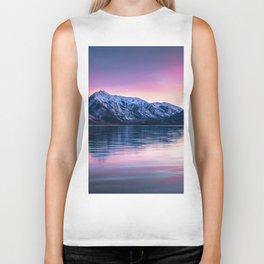 Sunset over twin lakes Biker Tank