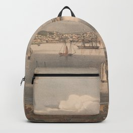 Vintage Pictorial Map of Gloucester MA (1836) Backpack