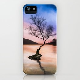 Llanberis Lake Tree iPhone Case