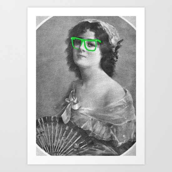 Josephine is a Hipster Art Print