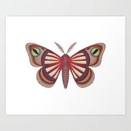 demon (made up moth) Art Print
