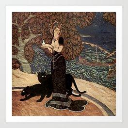 """""""Circe the Enchantress"""" by Edmund Dulac Art Print"""