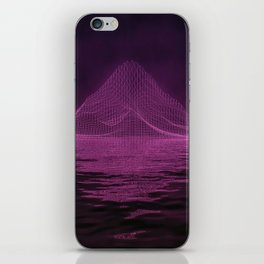 WireFrame Mountain on the Lake iPhone Skin