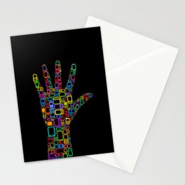 Mobile Phones Hand Stationery Cards