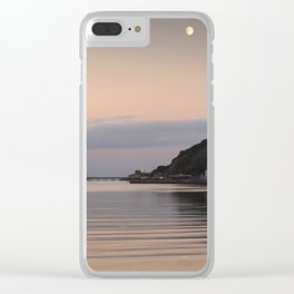 Swansea Bay by moonlight Clear iPhone Case