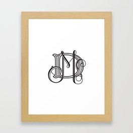 monogram DM Framed Art Print