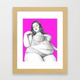 Fat is not a violation Framed Art Print