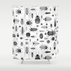Ink Beetles Shower Curtain